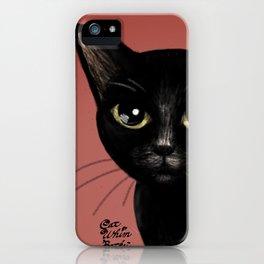 Black in red iPhone Case