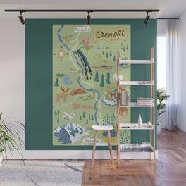 Denali Borough Map Wall Mural
