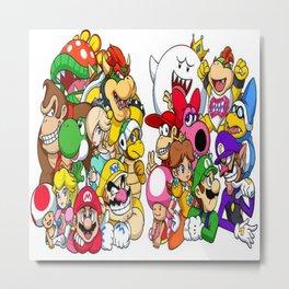 Super Mario Bros characters Metal Print