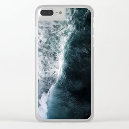 Oceanscape - White and Blue Clear iPhone Case