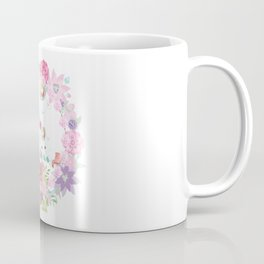Flowers Hearts and Unicorns Coffee Mug