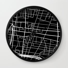 Northern Liberties Philly Map Wall Clock