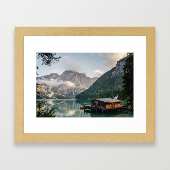 Mountain Lake Cabin Retreat Framed Art Print by adventurecalling ...