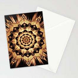 Mandala Golden Soul Spiritual Zen Bohemian Hippie Yoga Mantra Meditation Stationery Cards