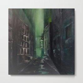 Green Alley Metal Print