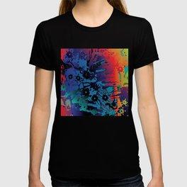 spectrum flowers T-shirt