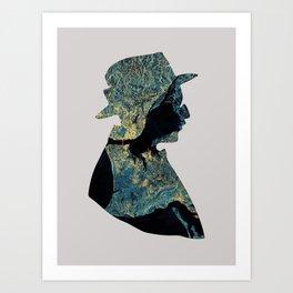 Fernando Pessoa & Lisbon Art Print