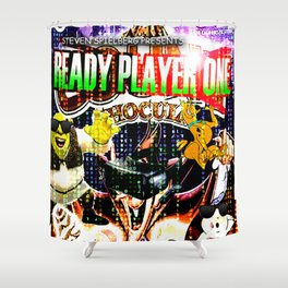 Official Ready Player One Poster Shower Curtain