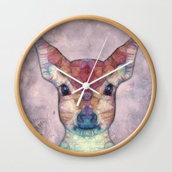 Abstract Fawn Wall Clock