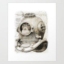 scuba diving Art Print