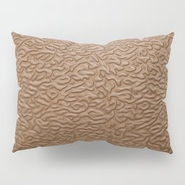 brown leather Pillow Sham