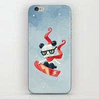 snowboard iPhone & iPod Skins featuring Snowboarding by Freeminds