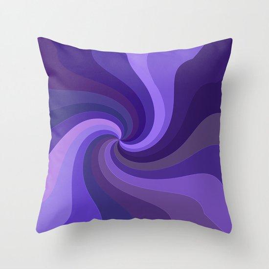 Purple Twirl One Throw Pillow