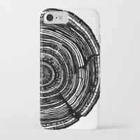 tree rings iPhone & iPod Cases featuring Tree Rings by Irene Leon