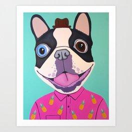 Buster The Dog Art Print