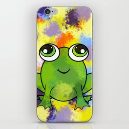 Cute frog and fresh paint iPhone Skin
