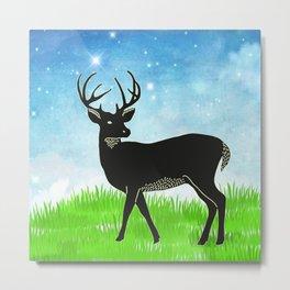 Hand drawn deer #2 * pretty tribal animals rustic woodland country Metal Print