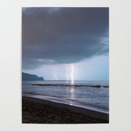 Lightning in an apprently quiet atmosphere Poster