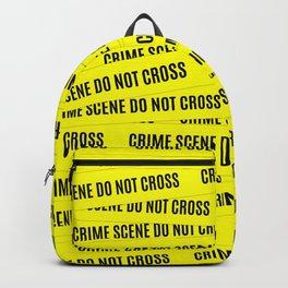 Crime Scene Tape Pattern Backpack