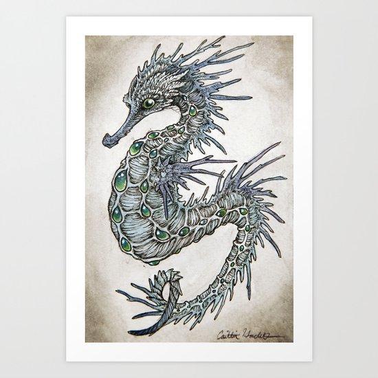 cerulean seahorse  Art Print