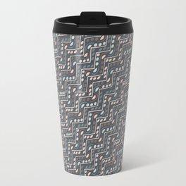 Decorated infinite stairway pattern Travel Mug