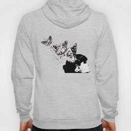 Long Gone Whisper II (street art graffiti painting, girl with butterflies) Hoody