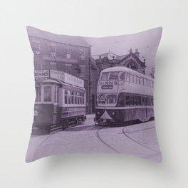 Classic Trams Throw Pillow
