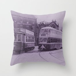 Classic Trams Throw Pillow