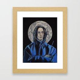 Snape/Alan Rickman Icon Framed Art Print