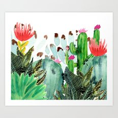 A Prickly Bunch III Art Print