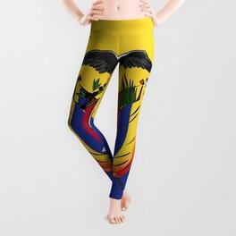 Ecuador flag emblem Leggings
