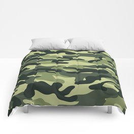 Green Military Camouflage Pattern Comforters