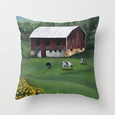 Barnyard Throw Pillow
