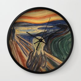 The Scream by Edvard Munch Wall Clock