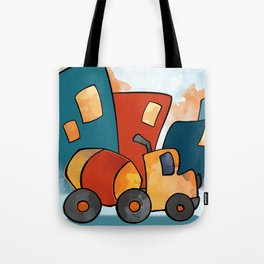 Cement Mixer, Construction Truck, Perfect for Child's Bedroom or Kid's Playroom Tote Bag