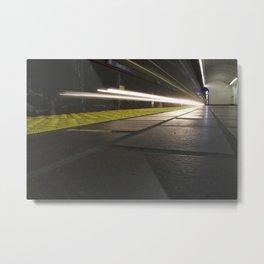 Motion Blur Granville Skytrain 1 Metal Print