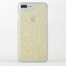 Ab Lines Gold and Navy Clear iPhone Case
