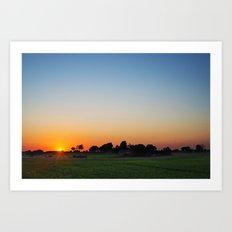 Countryside sunset Art Print