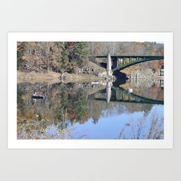 Shifting Totems & Fishing on the Delaware River Art Print