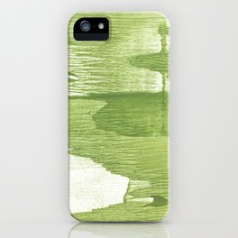 Green stained watercolor design iPhone Case