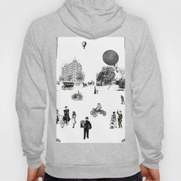 city view from window in 1898 vintage Victorian Hoody