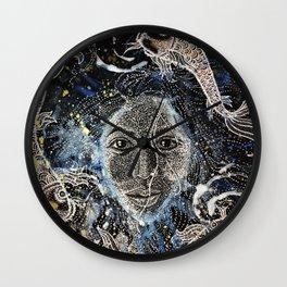 Akois (Self Portrait and Kois) Wall Clock