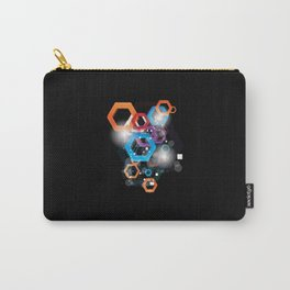 Colorful polygonal elements Carry-All Pouch