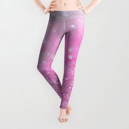Sparkling Baby Girl Pink Glitter Effect Leggings