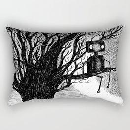 Lonely Robot Rectangular Pillow