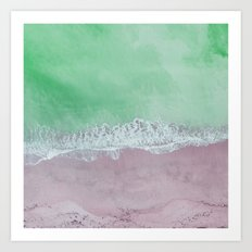 Pastel Abstract Ocean Art Print