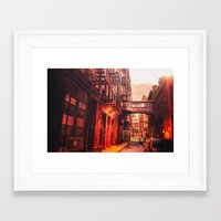 new york city Framed Art Prints featuring New York City Alley by Vivienne Gucwa