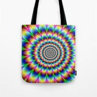 trippy Tote Bags featuring Trippy by Hipster's Wonderland