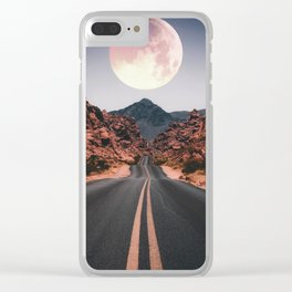 Mooned Clear iPhone Case