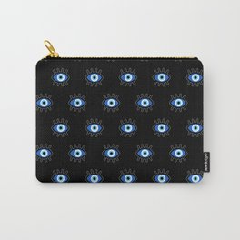 Evil Eye on Black Carry-All Pouch